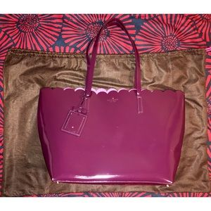 KATE SPADE LILY AVENUE PATENT LEATHER LARGE TOTE